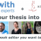 Peerwith and select book editors partner with Aldus Press in an innovative Open Access Thesis-2-Book (T2B) publishing service